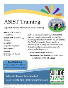 ASIST training march 27-28 LFS