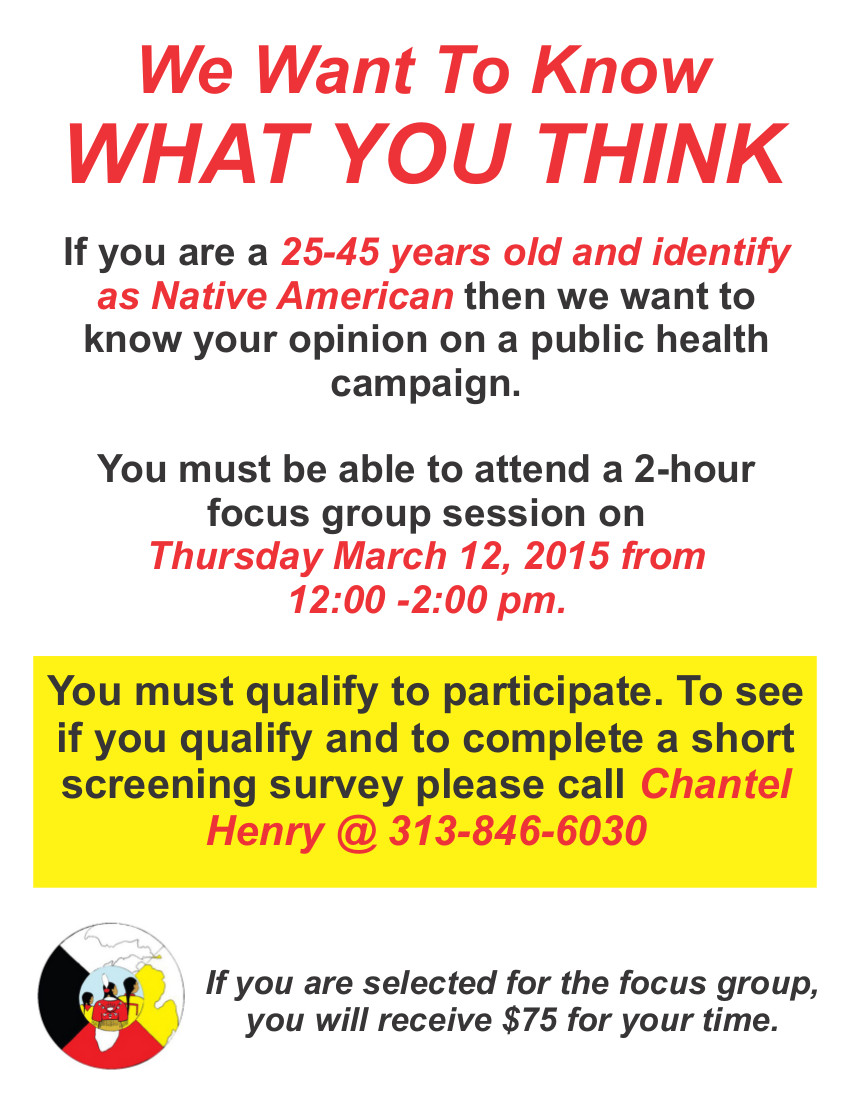 reach focus group flyer