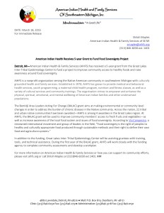 food sovereignty grant press release