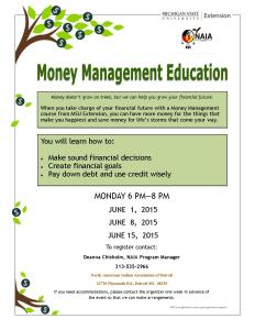 NAIA Money Management Flyer