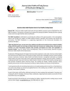 DMC Foundation Grant Press release