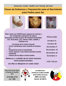 Childbirth Class Flyer Fall 2015 SPANISH