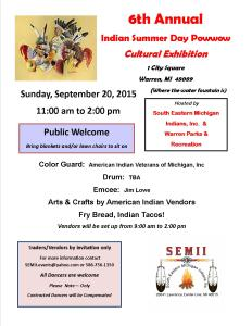Indian Summer Day Powwow