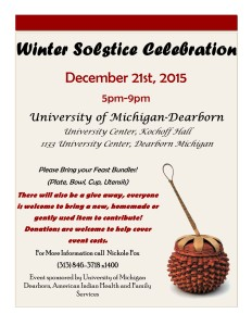 SAVE THE DATE! Winter Solstice Flyer 2015