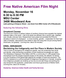 11-16-15 Free Native American Film Night
