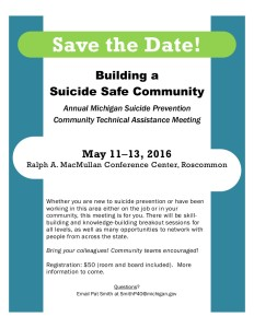 annual Michigan suicide prevention meeting