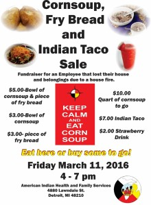 corn soup-indian taco fundraiser