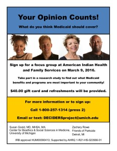 Focus Group at AIHFS 3-9-16