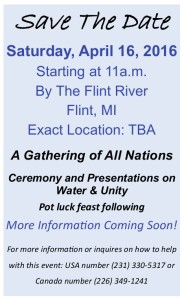 Water Ceremony Save the date flyer