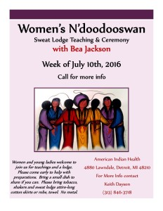 Women's Lodge with Bea Jackson Flyer July 2016