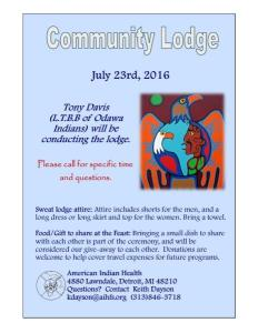 Community Lodge 7-23-16