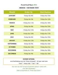 fresh food share 2016 Calendar page 2