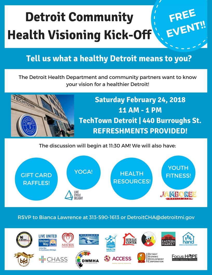 Aihfs community announcements this is presented by the detroit health department and community partners aihfs is one of the partners for this kick off rsvp to bianca lawrence at aiddatafo Image collections